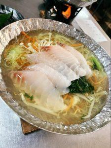 初登場!!鯛と鴨のお鍋料理