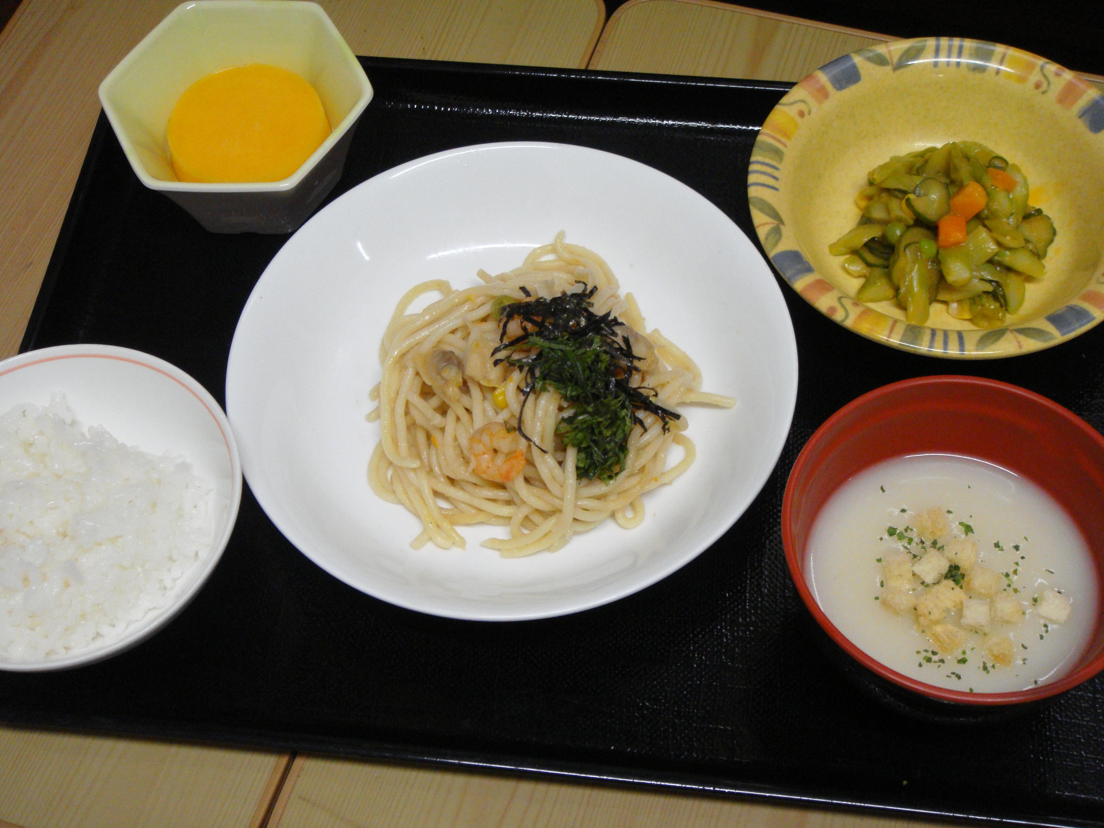 くみのき苑本部 シーフードスパゲティー