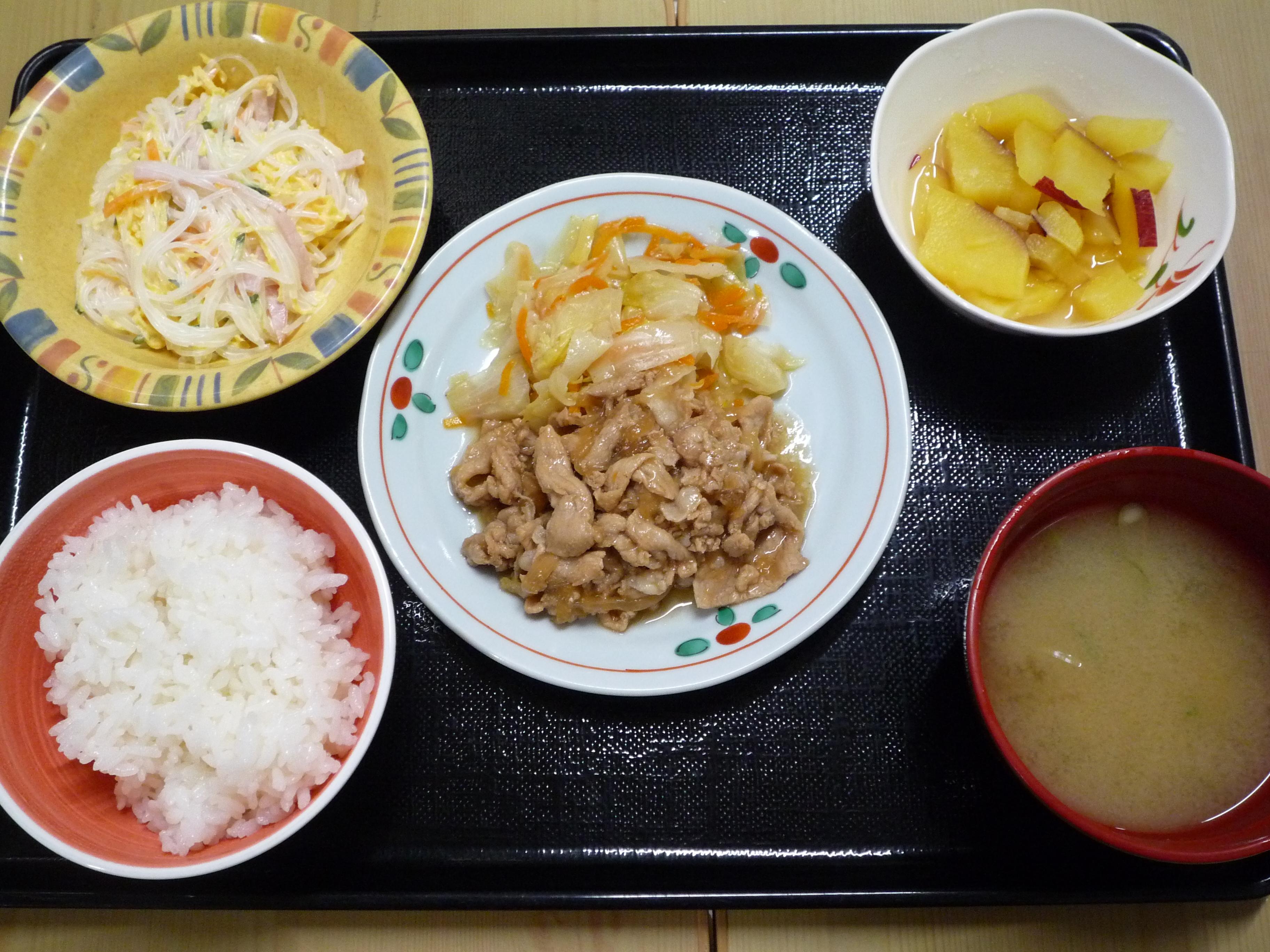 くみのき苑本部 豚肉の生姜焼