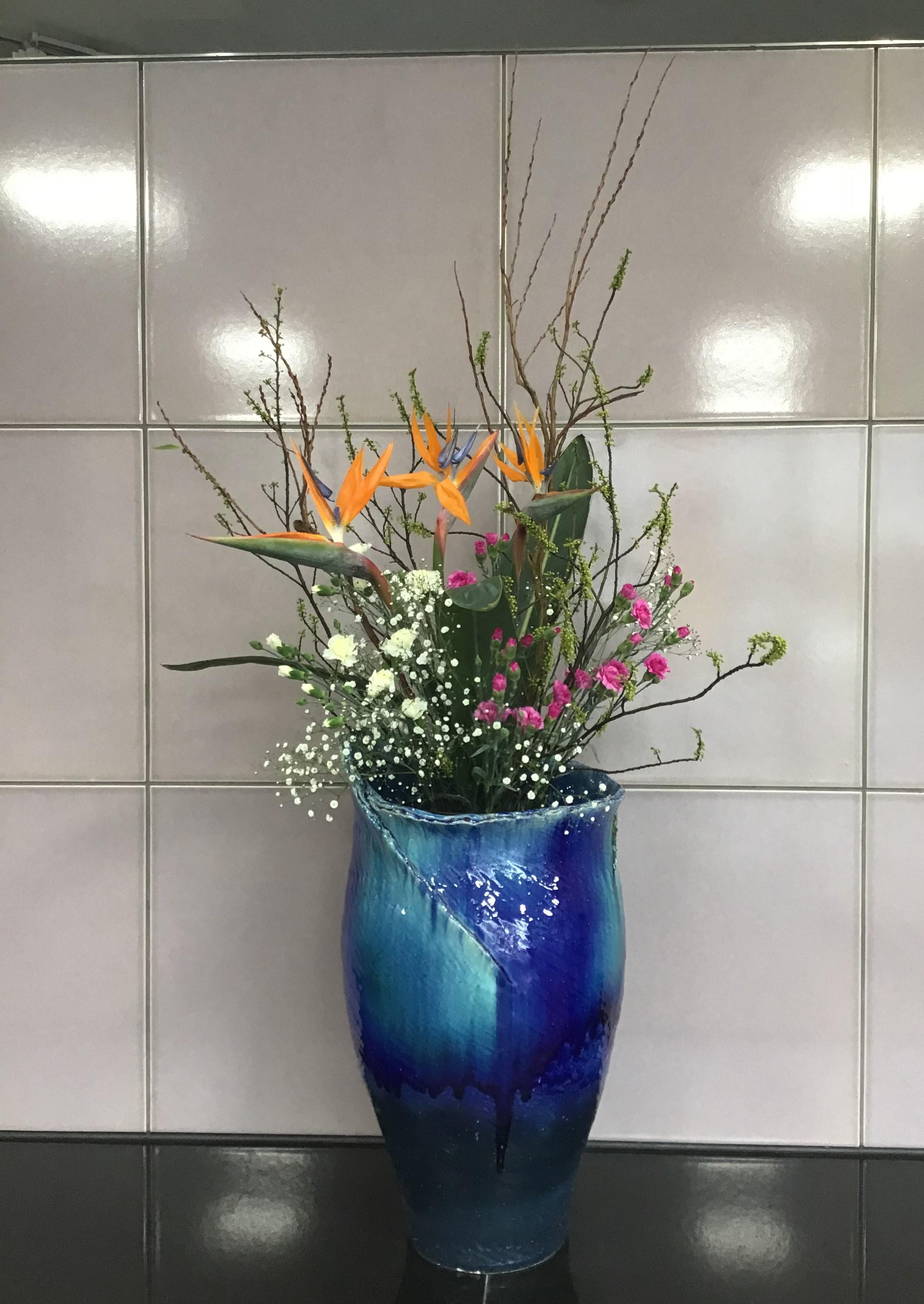 ☆正面玄関のお花(令和3年1月16日)☆